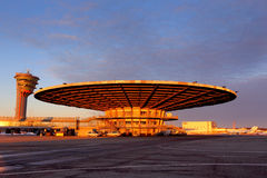 Vieux terminal Ryumka d'airpo d'international de Sheremetyevo Photo stock