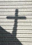 Vieux texte et croix Image stock