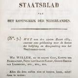 Vieux texte hollandais de loi Images libres de droits