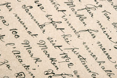 Vieux texte manuscrit dans la langue allemande Photos stock