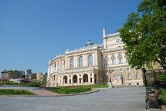 Vieux théâtre d'opéra à Odessa, Ukraine Photographie stock libre de droits