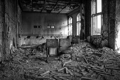 Vieux théâtre dans le bâtiment abandonné Images stock