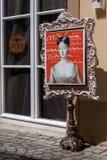 Vieux théâtre de marionnette d'operla de ville de Bayreuth Images stock