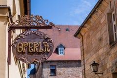 Vieux théâtre de marionnette d'operla de ville de Bayreuth Photos libres de droits