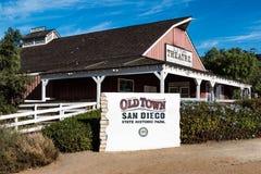 Vieux théâtre historique de ville à San Diego, la Californie image libre de droits