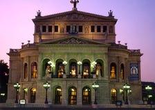 Vieux théatre de l'$opéra de Francfort, Allemagne Image stock