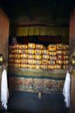 vieux Tibétain de livres de monastère bardan de gompa Image stock