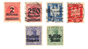 Vieux timbre allemand Photo stock