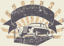 Vieux timbre de voiture Images stock