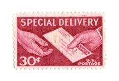 Vieux timbre-poste de cent des Etats-Unis 30 Photographie stock