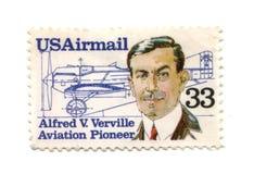 Vieux timbre-poste de cent des Etats-Unis 33 Photographie stock