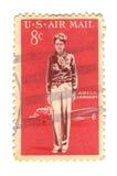 Vieux timbre-poste de cent des Etats-Unis 8 Images libres de droits