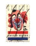 Vieux timbre-poste de cent des Etats-Unis cinq Images libres de droits