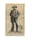 Vieux timbre-poste de fiv des Etats-Unis Image libre de droits
