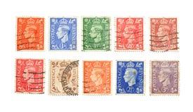Vieux timbres-poste Photographie stock