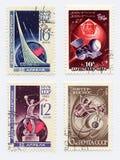 Vieux timbres-poste Photo libre de droits