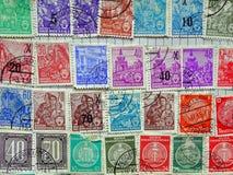 Vieux timbres-poste Allemand de l'Est Image libre de droits