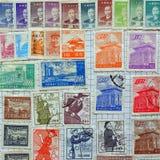 Vieux timbres-poste chinois Image libre de droits