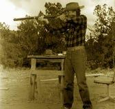 Vieux tir de cowboy Photos libres de droits
