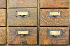 Vieux tiroirs en bois Photos stock