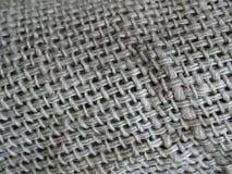 Vieux tissu de sac Photographie stock libre de droits