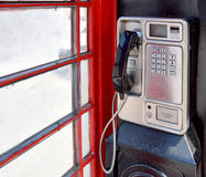 Vieux téléphone de pièce de monnaie dans Harborne Photographie stock libre de droits