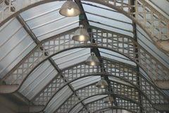Vieux toit en verre Images libres de droits