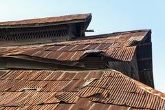 Vieux toit rouillé Image stock