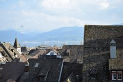 Vieux toits Photos stock