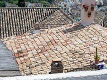 Vieux toits de maisons Photographie stock libre de droits
