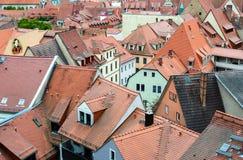 Vieux toits de ville, Meissen Images libres de droits