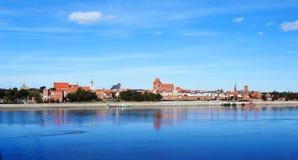 Vieux Torun en été Images libres de droits