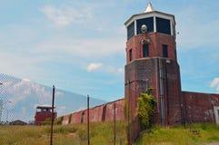 Vieux tour de guet de prison Photo stock