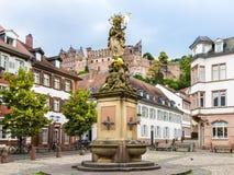 Vieux town_ Baden Wuerttemberg, Allemagne d'Heidelberg Photographie stock