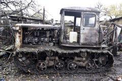 Vieux tracteur Images libres de droits