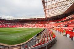 Vieux Trafford est maison de club du football de Manchester United Photo libre de droits