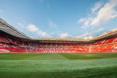 Vieux Trafford est maison de club du football de Manchester United Photos stock