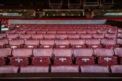 Vieux Trafford est maison de club du football de Manchester United Photos libres de droits