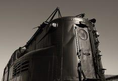Vieux train électrique futuriste Image stock