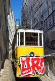 Vieux train avec le graffiti Photo libre de droits