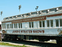 Vieux train de carnaval Image stock