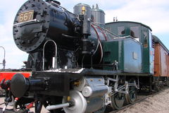 Vieux train de vapeur images stock