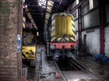 Vieux train diesel Photo libre de droits