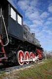 Vieux train et le ciel Photos stock