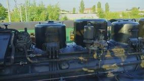 Vieux train ferroviaire historique 4K de locomotive à vapeur de mesure étroite banque de vidéos