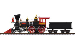 Vieux train locomotif Image libre de droits