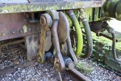 Vieux train rouillé au hombourg de trainstation Photo libre de droits