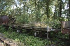 Vieux train rouillé au hombourg de trainstation Image libre de droits