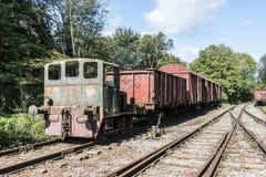 Vieux train rouillé au hombourg de trainstation Photos libres de droits