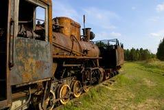 Vieux train rouillé de vapeur Photographie stock